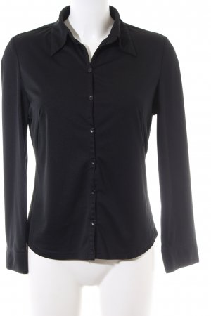 Langarm-Bluse schwarz Business-Look
