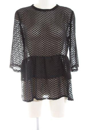 Langarm-Bluse schwarz Elegant