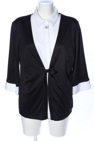 Malva Langarm-Bluse schwarz-weiß Casual-Look