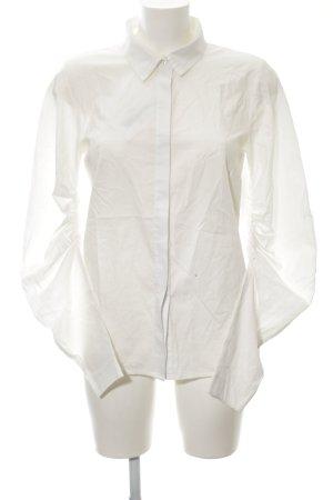 Langarm-Bluse weiß schlichter Stil