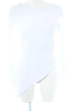 Langarm-Bluse wollweiß Street-Fashion-Look