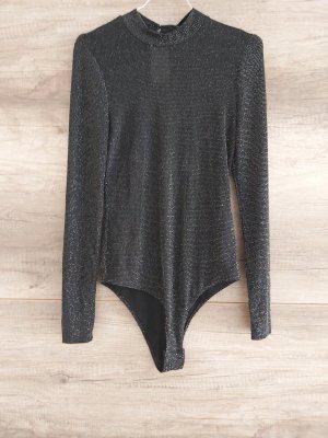 Bodysuit Blouse black-silver-colored