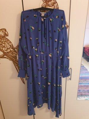 H&M Chiffon jurk blauw Gemengd weefsel