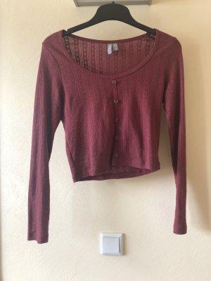 Asos Cropped shirt karmijn-roodbruin