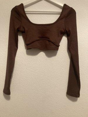 Bershka Long Top black brown