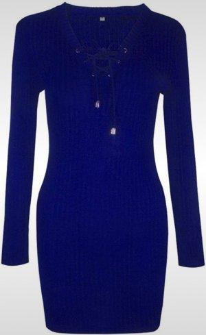 Robe en maille tricotées bleu