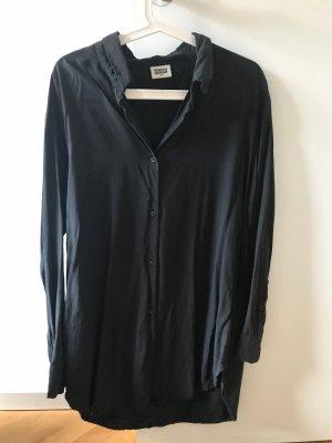 Langarm Hemd in schwarz