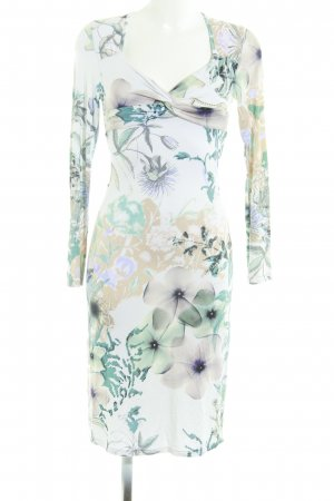 Langarm-Jerseykleid mit abstraktem Muster  im Casual-Look