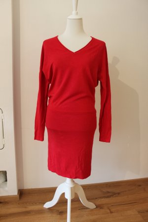 Comma Vestido de lana rojo Algodón