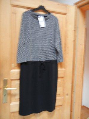 Langarm Kleid GINA LAURA neu Gr. L = 42-44 schwarz weiß, NP 69€