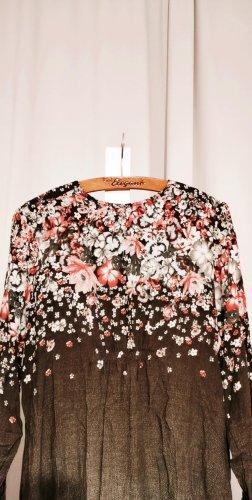 Langarm-Kleid mit Blumenmuster