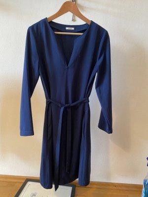 """Langarm-Kleid mit """"Gürtel"""", dunkelblau, KIOMI"""