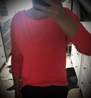 Crane Długi sweter bez rękawów malina