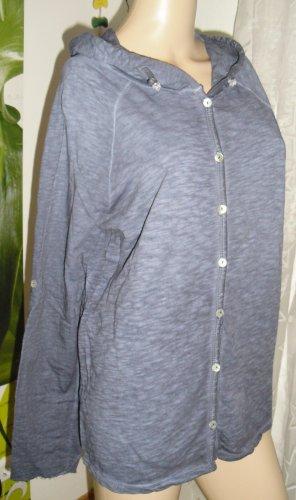 Top à capuche bleu acier