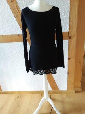 Alba Moda Peplum top zwart Katoen
