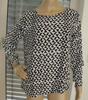 QS by s.Oliver Long Sleeve Blouse white-black