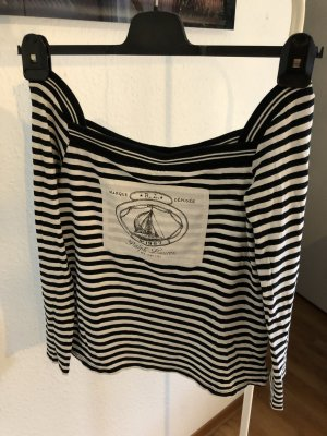 Ralph Lauren Długa koszulka czarny-biały Bawełna