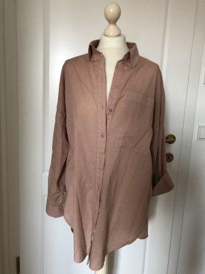 Langarm Oversized Bluse/Tunika rosenholz