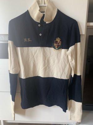 Ralph Lauren Rugbyshirt licht beige-donkerblauw