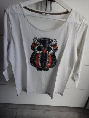 Langarm pullover mit Pailletten