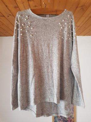 Langarm Pullover mit Perlen