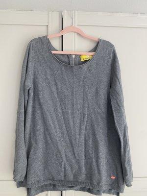 Lieblingsstück Long Sweater silver-colored cotton