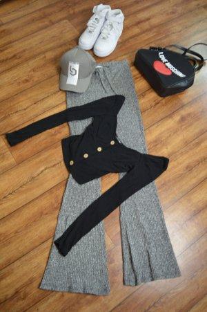 Langarm Rippen Cropped Shirt Gr. 36 Fashion Nova