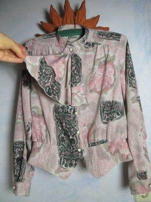 Vintage Blusa con lazo rosa empolvado-taupe