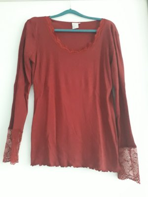 Deerberg Ribbed Shirt dark red