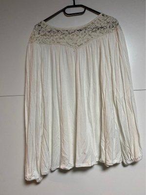 H&M Camisa tipo túnica blanco