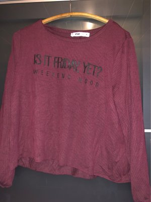 FB Sister Fine Knitted Cardigan bordeaux