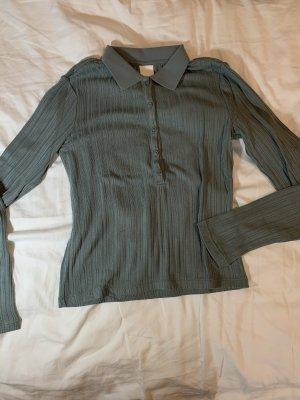 H&M Camicia lunga verde-grigio-cachi