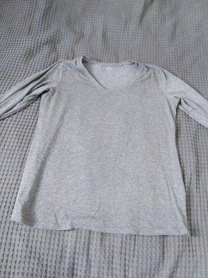 Sweter oversize jasnoszary Bawełna