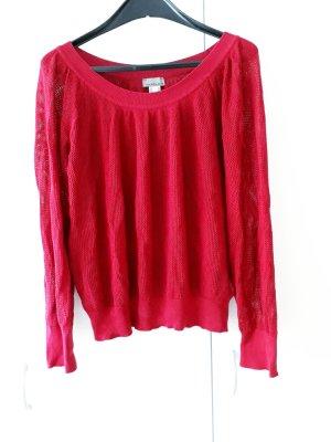 Mandarin Knitted Jumper raspberry-red-magenta