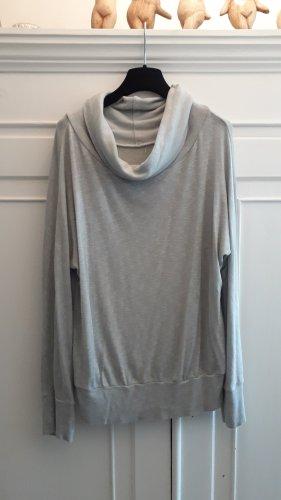 italienische Mode Camisa de cuello de tortuga gris claro