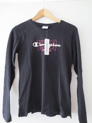 Langarm Shirt, Champion, Gr. 36/S, schwarz, NEU, mit Etikett