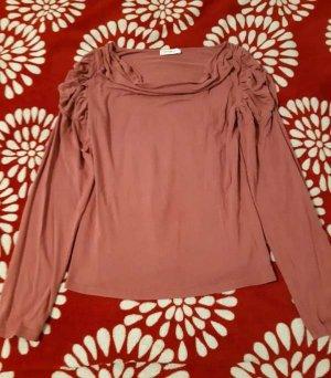 Orsay Camisa con cuello caído color rosa dorado