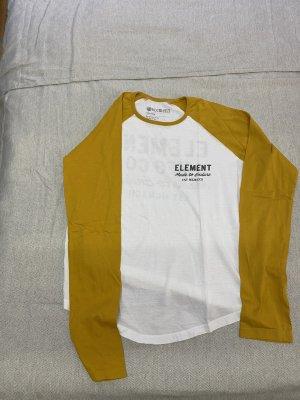 Element Manga larga blanco-amarillo pálido