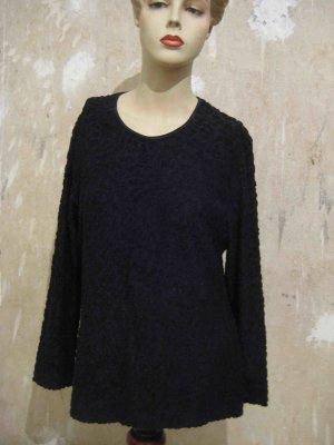 Langarm-Shirt Escada, in schwarz, mit Flock-Muster