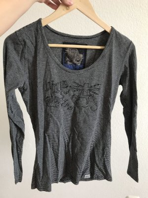 Langarm Shirt Freeman t. Porter M grau schwarz gestreift