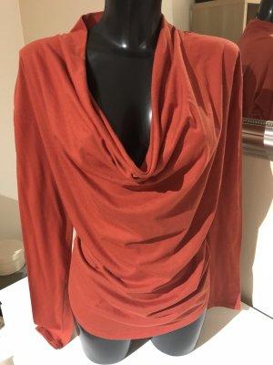 Sisley Koszulka z dekoltem woda ciemny pomarańcz