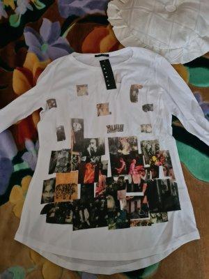Sisley Camicia lunga bianco