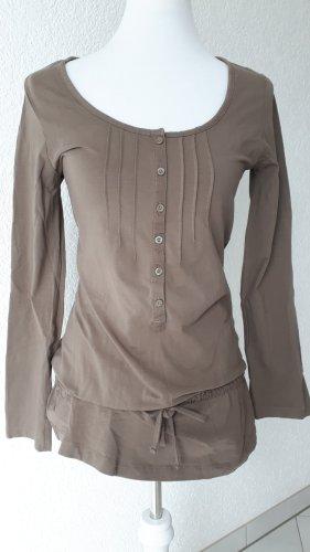 Langarm-Shirt in Erdfarben,Shirtkleid,S/36