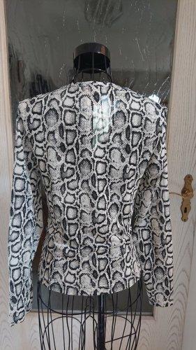 Langarm Shirt in Schlangenoptik Gr. 36/38