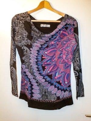 Langarm Shirt mit attraktivem Muster von Desigual