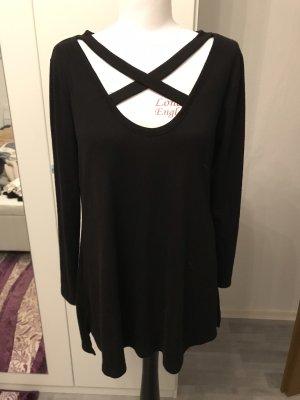 YOINS Prążkowana koszulka czarny
