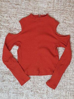 Langarm Shirt mit Cut Outs | Gr. 36