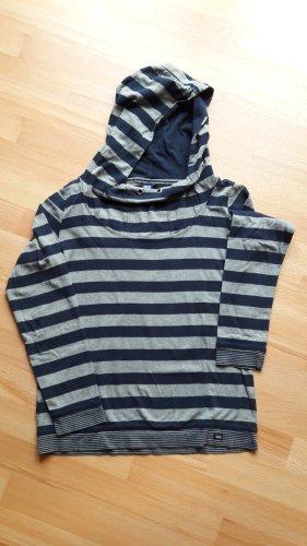 Cecil Shirt met capuchon grijs-donkerblauw