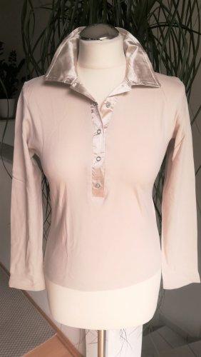 Langarm-Shirt mit Satin-Kragen Gr. M