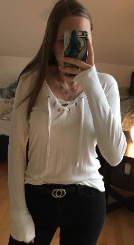 Camisa acanalada blanco